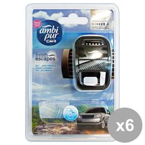 AMBI PUR Set  6 Auto Base Sky Deodorante Accessori Auto E Moto