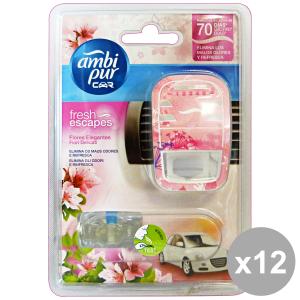 Set 6 AMBI PUR auto base fiori delicati deodorante accessori auto e moto