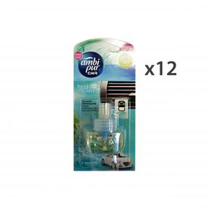 AMBI PUR Set  12 Auto Ricarica Aqua Deodorante Accessori Auto E Moto