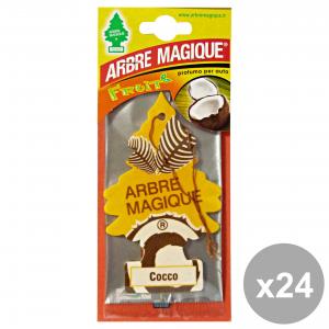 Set 24 ARBRE MAGIQUE Deodorante COCCO Accessori auto e moto