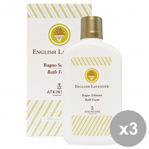 Set 3 ATKINSONS Bagno ENGLISH LAVENDER 400 Ml. Saponi e cosmetici