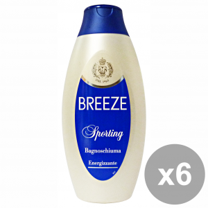 BREEZE Set  6 Bagno Sporting 400 Ml. Saponi E Cosmetici