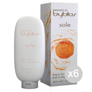 BYBLOS Set 6 BYBLOS Bagnodoccia sole 400 ml. - bagno schiuma