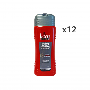 INTESA Set 12 Bagno Doccia Power Odor Block 500 Ml. Saponi E Cosmetici