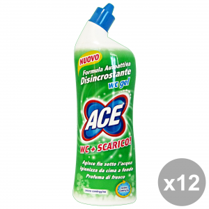 ACE Set 12 Bagno Wc Gel Disincrostante 700 Ml.
