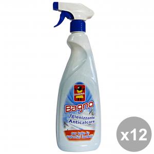 Set 12 DAMINA Bagno Igienizzanti TRIGGER 750 Ml. Detergenti casa