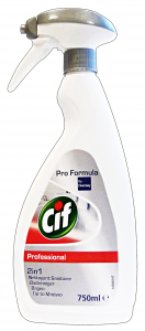 CIF Detergente professionale bagno 2 in 1 750 ml.