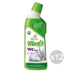 Set 12 WINNI'S Bagno Wc Gel Lavanda 750 Ml Detersivo Detergente Pulizia Della Casa