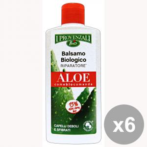 I PROVENZALI Set 6 Balsamo Aloe Biologicoriparazione Aratore 200 Ml.  Capelli