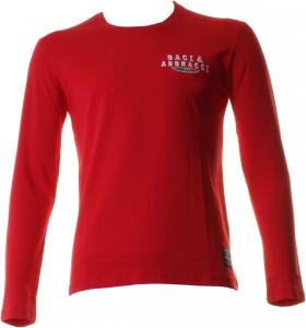 BACI & ABBRACCI T-shirt girocollo maniche lunghe uomo rosso BAM930-ROSSO