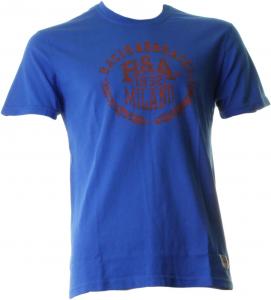 BACI & ABBRACCI T-shirt girocollo maniche corte uomo azzurro BAM939-AZZURRO