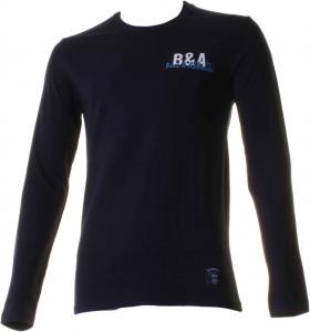 BACI & ABBRACCI T-shirt girocollo maniche lunghe uomo blu BAM927-BLU