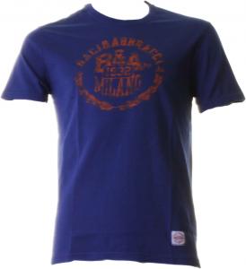 BACI & ABBRACCI T-shirt girocollo maniche corte uomo blu BAM939-BLU