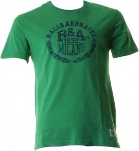 BACI & ABBRACCI T-shirt girocollo maniche corte uomo verde BAM939-VERDE