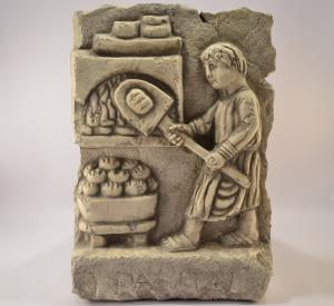 'Bassorilievo quadro ''Mestiere antico fornaio'' in marmo scolpito a mano BI-52-tr'