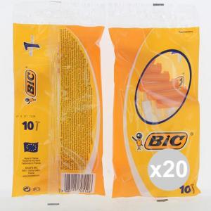 Set 20 BIC Rasoi Monolama 10 Pezzi Rasoi A Mano Libera depilazione e rasatura