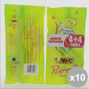 BIC Set 10 Rasoi Lady Pure3 4+4Pz