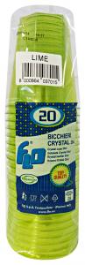 Bicchieri 20 pz. lime crystal 250cc - Articoli per pic-nic