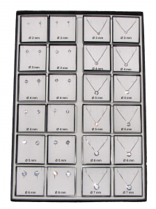 Collana catena argento 925 cubic zirconia cg03382
