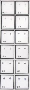 Bigiotteria Orecchini Argento 925 Rod Cubic Zirc Og04588 Gioielli e bigiotteria