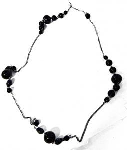 DEBBY Collana nera perle tonde - Accessori toiletteria