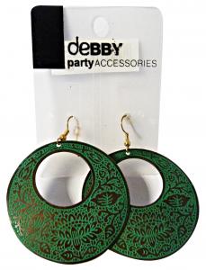 DEBBY Orecchini etnici verdi - Accessori toiletteria