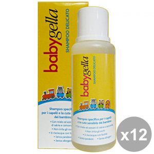 Set 12 BABYGELLA Shampoo Delicato 250 Ml. Linea Bimbo