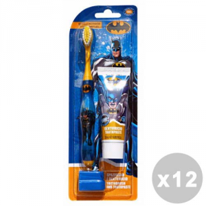 BATMAN Set 12 BATMAN Spazzolino+dentifricio 25 ml. - linea bimbo