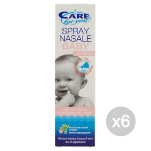 Set 6 CARE FOR YOU Naso Spray Nasale Baby 100 Ml Baby Cura Del Bambino E Neonato