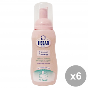 FISSAN Set  6 Baby Mousse Lavante 200 Ml. Linea Bimbo
