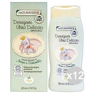 Set 12 NATURAVERDE Bio Disney Detergente Ultra Delicato 200 Ml Cura Del Bambino E Neonato