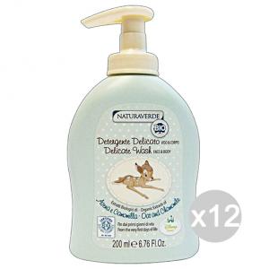Set 12 NATURAVERDE Bio Disney Detergente Viso&Corpo 200 Ml Cura Del Bambino E Neonato