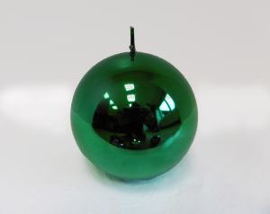 Candela Metallica Green Sfera mm. 100 Colore Verde