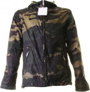 BACI & ABBRACCI Giacca uomo con cappuccio camouflage BM060F-camouflage