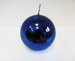 Candela Metallica Royal Blue Sfera mm. 100 Colore Blu