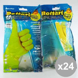 Set 24 BOTTARI Guanti Felpati Gialli L(1) Detersivi e articoli per pulizie