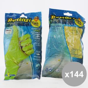 Set 144 BOTTARI Guanti Felpati Gialli S(1) Detersivi e articoli per pulizie