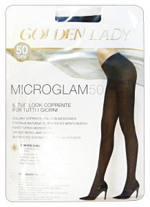 GOLDEN LADY Microglam Collant 50 Den Nero Taglia Ii 24H Calze Da Donna