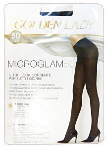 GOLDEN LADY Microglam Collant 50 Den Nero Taglia Iv 24H Calze Da Donna