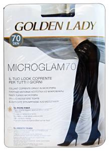 GOLDEN LADY Microglam Collant 70 Den Nero Taglia Iii 24I Calze Da Donna
