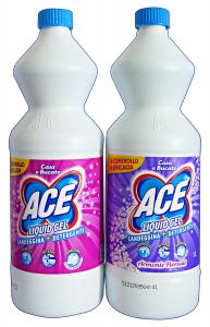 ACE 1 Lt. Liquid Gel Candele + Detergente Rosa E Viola