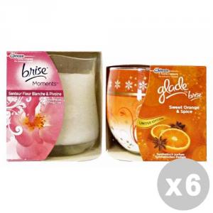 GLADE Set 6 GLADE Candela profumata miste - deodoranti casa
