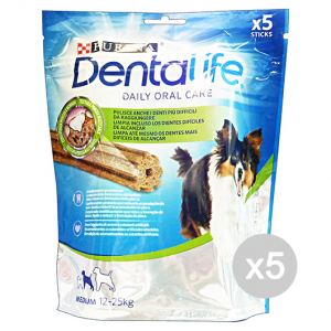 Set 5 DENTALIFE Snack Igiene Dentale Medium 5 Pezzi 115 Gr Cibo Per Cani
