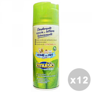 EMULSIO Set 12 EMULSIO Pet care deodorante cuccia/lettiera citronella spray 400 ml