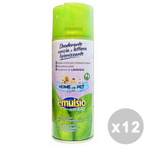 EMULSIO Set 12 EMULSIO Pet care deodorante cuccia/lettiera lavanda igienizzante spray 400 ml