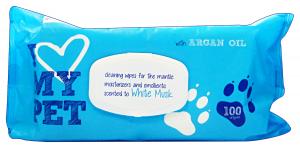 Salviette igieniche animali *100 pz. muschio bianco i love my pet