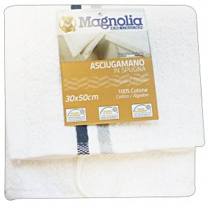 MAGNOLIA Asciugamano Da Casa Spugna Cotone 30X50 Asc3760A Tessile Bagno