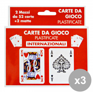 Set 12 CANTINI carte gioco intern. art.15975 feste e occasioni