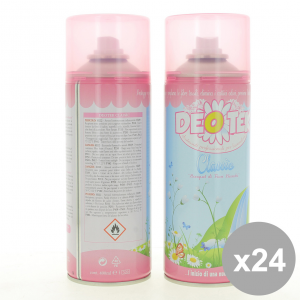 Set 24 DEOTEK Deodorante Spray 400Ml Classic - Cura del Corpo