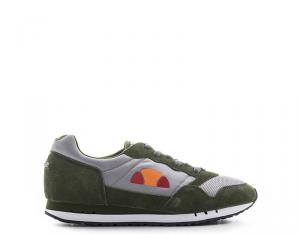 ELLESSE Sneakers trendy uomo grigio/verde con tomaia in ecopelle